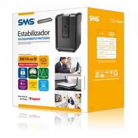 Estabilizador SMS - Revolution Speedy New Generation 300 VA ou W Bivolt Automático