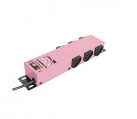 Filtro de Linha 6 Tomadas com 3 USB Ipec - Rosa