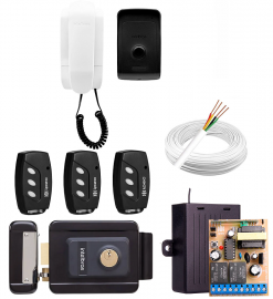 Kit Fechadura Elétrica Intelbras Fx2000 Preta + Interfone IPR 1010
