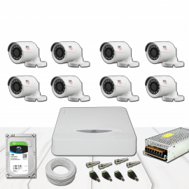 Kit Dvr 8 Canais JFL TVI HD 1 Mega 1280x720p