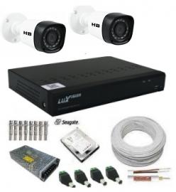 Kit Dvr 4 Canais Luxvision Ecd 1080n Com 2 Câmeras Hd