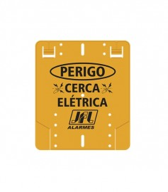 Placa De Advertência: Perigo Cerca Elétrica Plástico JFL