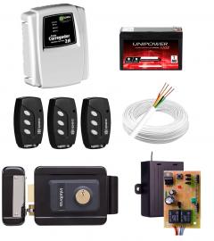 Kit Fechadura Elétrica Intelbras FX 2000 Sem Fio + Carregador Ipec