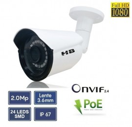 Câmera IP Bullet POE HB Tech HB 904 Full HD 2 mega
