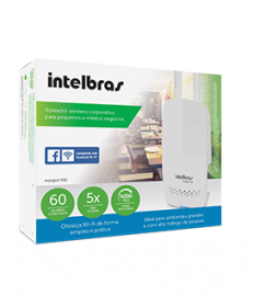 Roteador wireless Hot Spot 300 Intelbras com check-in no Facebook
