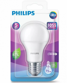 Lâmpada LED Bulbo 9.5-75W E27 Branca 6500K Bivolt - Philips