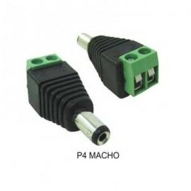 Conector P4 Macho Borne Alimentaçao Câmeras Cftv 100 Unidade
