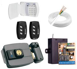 Kit Fechadura Elétrica Hdl + Teclado S/ Fio + Controle