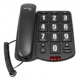 Telefone Intelbras com fio com teclas grandes ToK Fácil