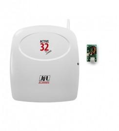 Central Alarme Monitorado Jfl Active 32 Versão 5.0 + Módulo Ethernet
