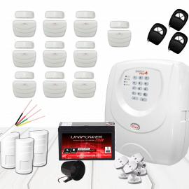 Kit Alarme sem Fio JFL com 13 sensores e infra pet de longa distância
