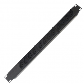Filtro De Linha Regua 19' Rack C/ 12 Tomadas Metal KITEC