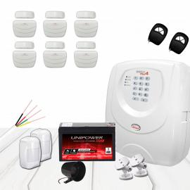 Kit Alarme JFL com 08 sensores arme e desarme por celular e telefone