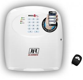 Central de alarme JFL Brisa 4 Sinal + GSM arme desarme via Software de celular