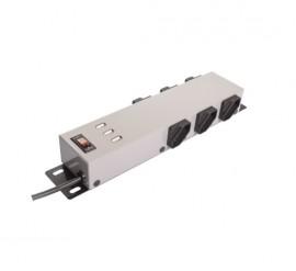 Filtro de Linha Ipec 6 Tomadas com 3 USB carrega celular - Prata