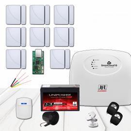 Kit Alarme JFL- Smart Cloud 18 com 9 sensores