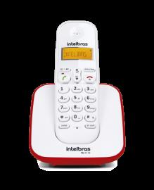 Telefone sem fio digital Intelbras TS 3110 Branco E Vermelho