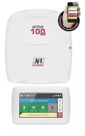 Central alarme monitorável Active 100 BUS 99 zonas + Teclado Touch