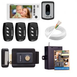 Kit Fechadura Elétrica Intelbras Fx Sem Fio + Video Porteiro 7010