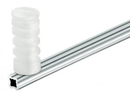 Haste Em Alumínio Tipo Estrela 75 CM C/4 Isoladores C/ 10 Hastes Para Cerca Elétrica