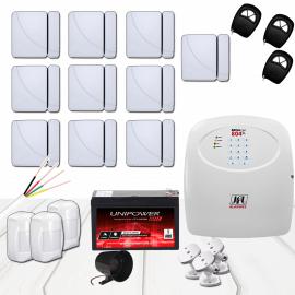 Kit Alarme JFL com 13 sensores e discadora GSM
