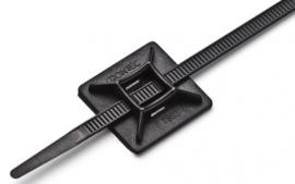 Fixador Autoadesivo Frontec 28x28mm 50 unidades - Preto