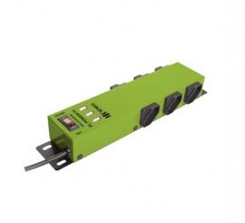 Filtro de Linha Ipec 6 Tomadas com 3 USB carrega celular - Verde