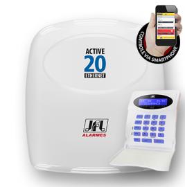 Alarme Monitorado Jfl Active 20 Ethernet  Monitore Pelo Celular