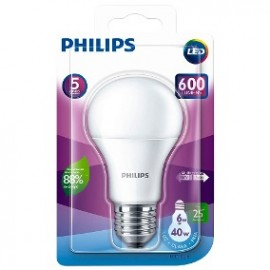 Lâmpada LED Bulbo 6W E27 Branca 6500K Bivolt - Philips