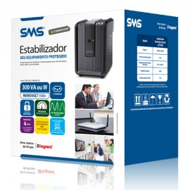 Estabilizador SMS - Revolution Speedy New Generation 300 VA  Monovolt 115V~