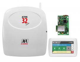 Central Alarme Jfl Active 32 DUO + Modulo Wireless + Teclado Touch