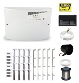 Kit Cerca Elétrica GCP Advanced Power 40 Metros Haste Chata 75 Cm