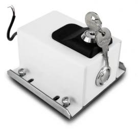 Trava Eletromagnética Dog Steel PPA Branca 220v