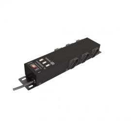 Filtro de Linha Ipec 6 Tomadas com 3 USB carrega celular - Preto