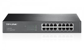 Switch Gigabit TP- Link de 16 portas 10/100/1000 TL-SG1016D