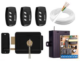 Kit Fechadura Elétrica Intelbras FX 500 Preta Sem Fio