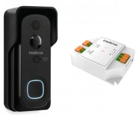 Kit Vídeo Porteiro Wi-Fi Intelbras Allo W5 + Rele Allo XR1
